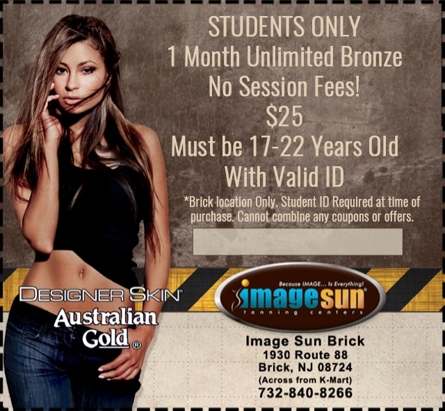 Student Coupon a low cost 1 Month Unlimited Bronze 25$ in Image Sun NJ